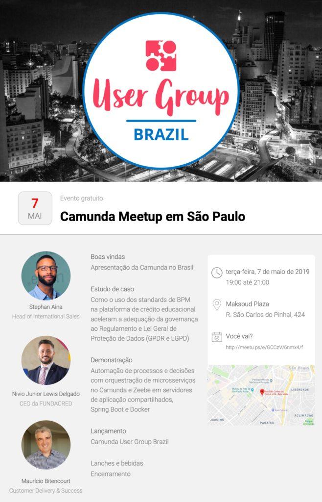 Flyer do evento em São Paulo.